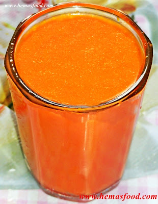 Carrot Milk  Juice
