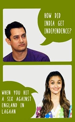Alia Bhatt answer about indian independence