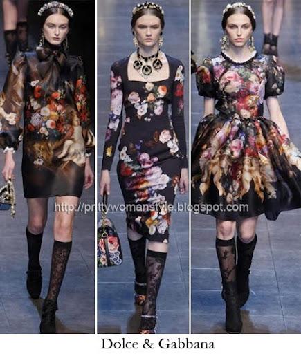 Флорални принтове Dolce & Gabbana