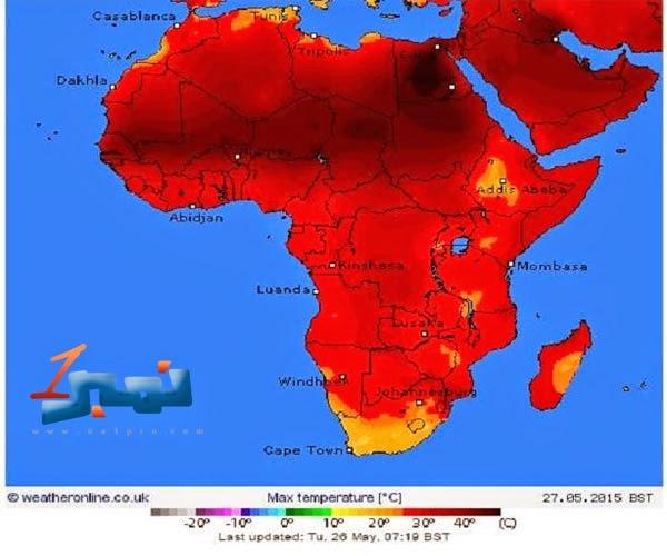مصر الاعلى درجة حرارة عالمياً