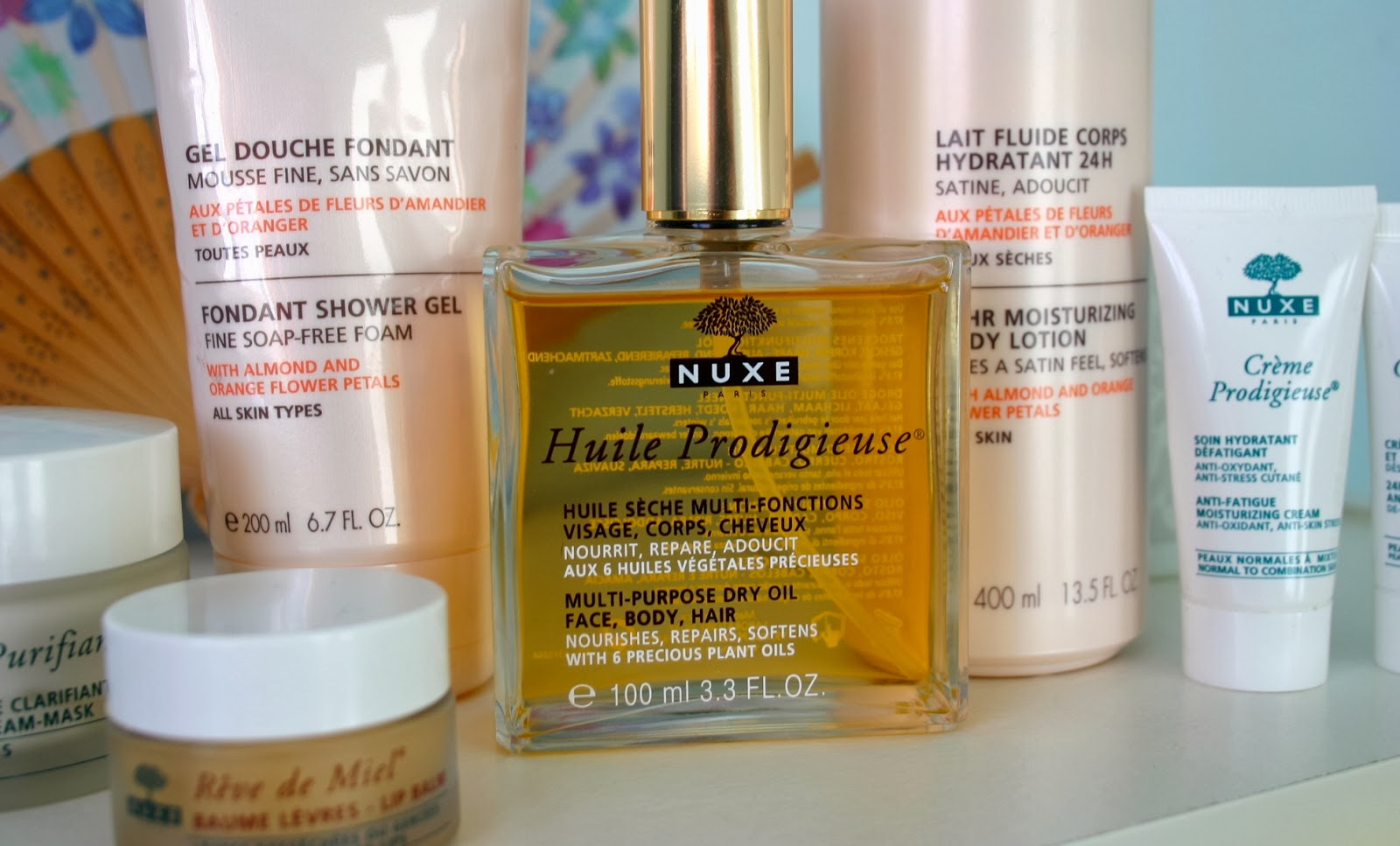 Nuxe Huile Prodigieuse sat amongst other nuxe spring pamper products