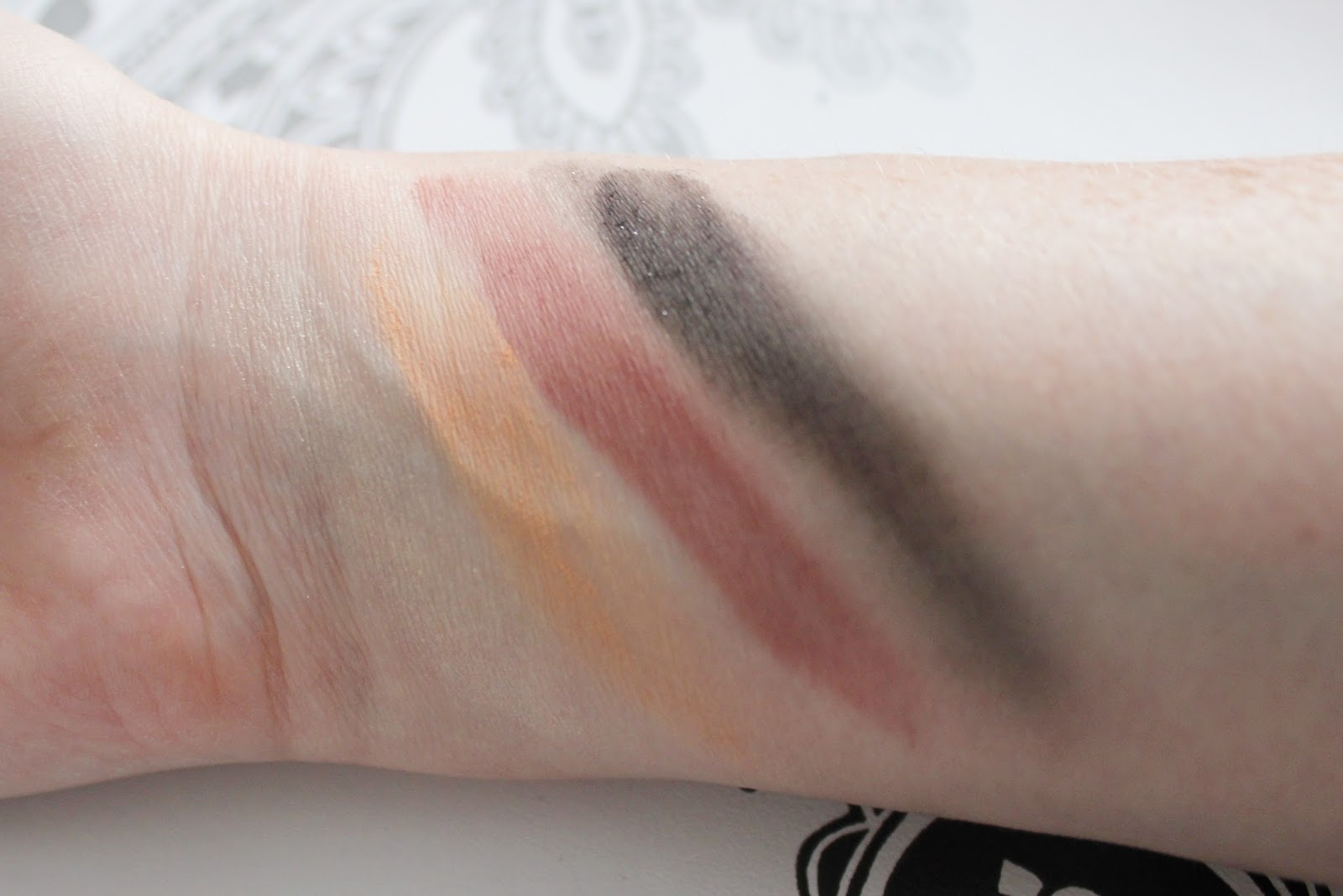 Illamasqua Facets collection Aura palette swatches