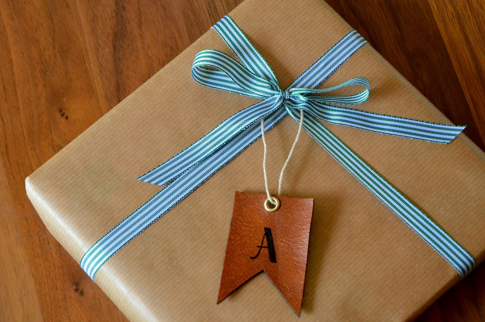 DIY Leather gift tags