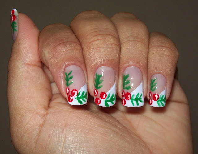 Especial Fim de Ano - Unha Espanhola com Cerejinhas de Natal