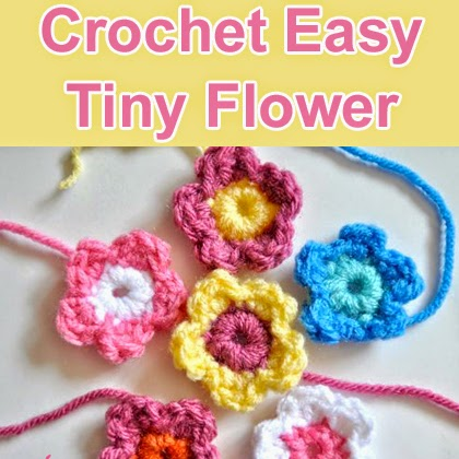 Crochet Easy Tiny Flower - free crochet pattern