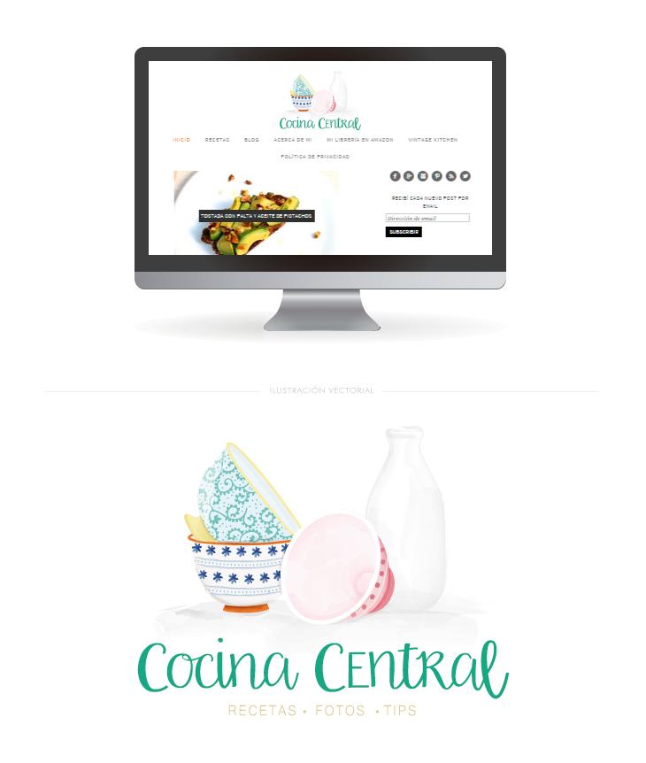 ilustración vectorial diseño cabecera de blog