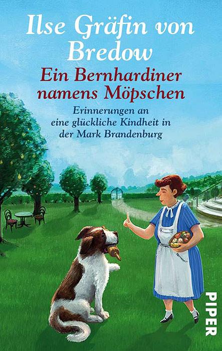 Buchumschlag für Ilse Gräfin von Bredows´Ein Bernhardiner namens Möpschen - Haushälterin versucht den etwas zu groß geratenen Bernhardiner zu erziehen
