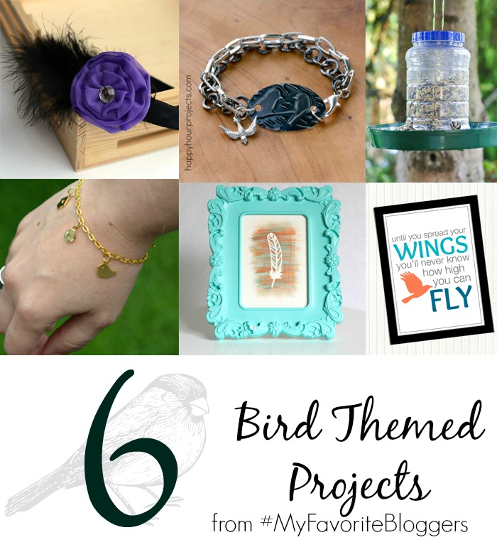 6 Bird Themed Projects from #MyFavoriteBloggers pitterandglink.com