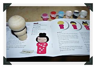 Japanese Dolls, craft set