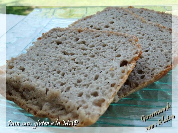 gourmande sans gluten: pain sans gluten à la map