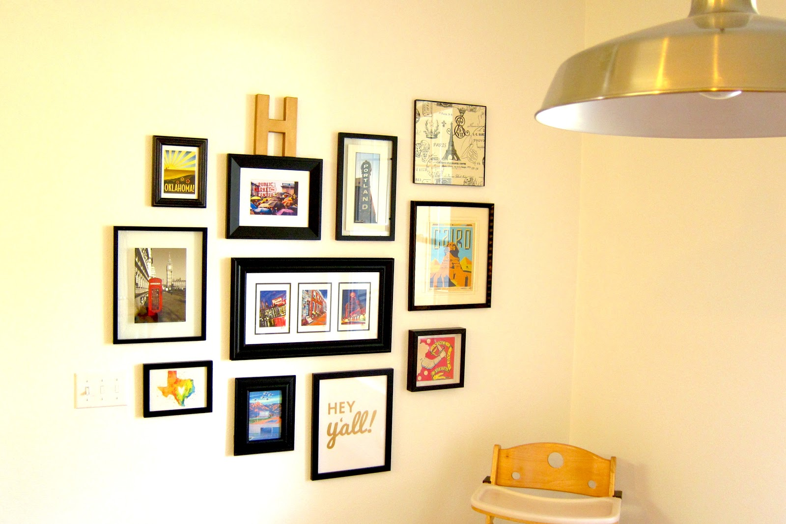 Inspired Whims: Gallery Wall - Places We\'ve Lived and Been