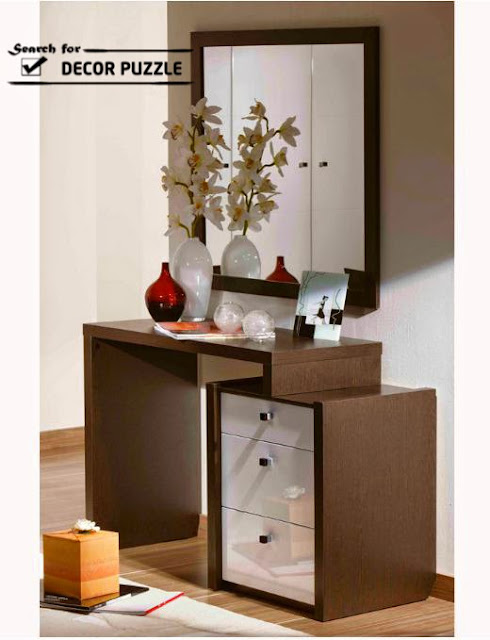 Latest modern dressing table designs for contemporary bedroom for Small designer tables