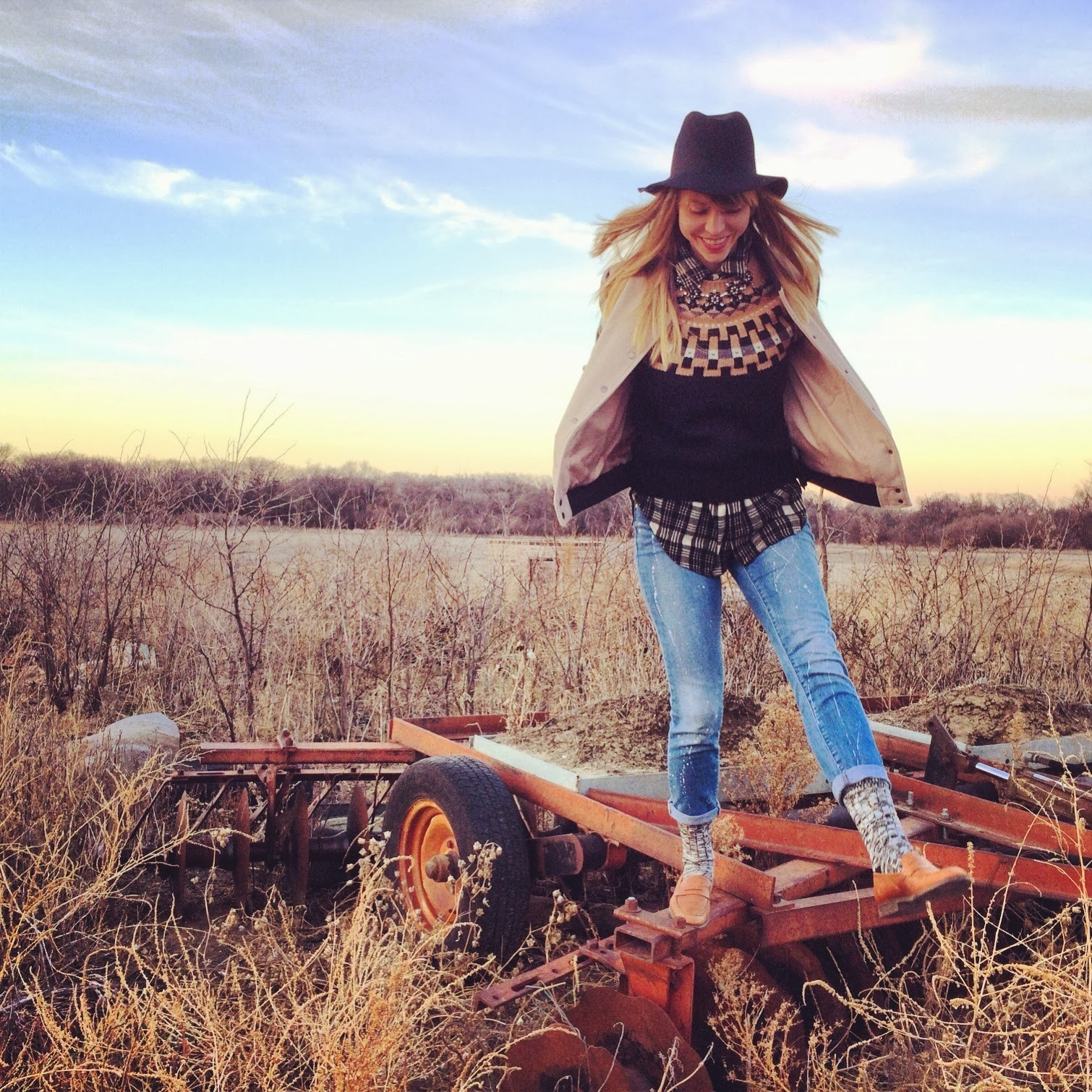Nebraska, cornfield, Madewell, Topshop, Plaid, Denim, Fashion, Casual, Roots, Farm