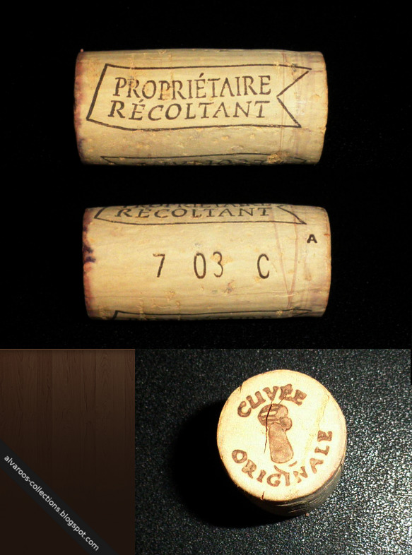 Wine cork: Proprietaire Recoltant, 7 03 C 'A', Cuvee Originale