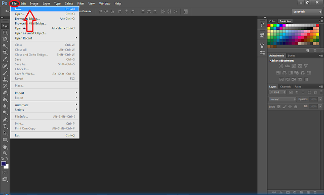 Disini saya menggunakan Photoshop CS6, sobat Kumpulan Informasi sudah ...