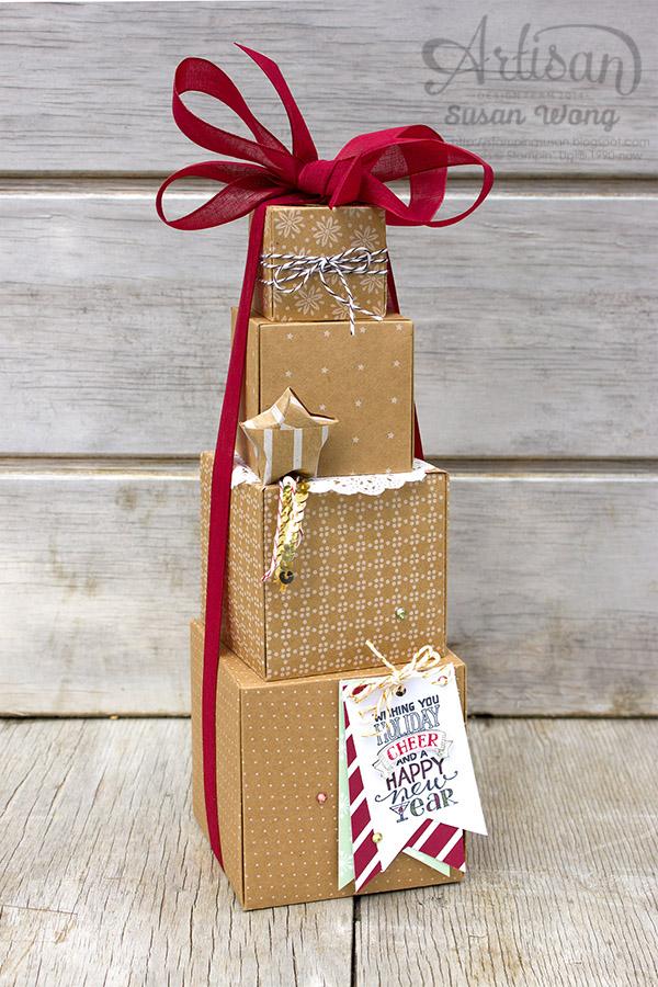 Stack some boxes to make a 'tree' ~ Susan Wong
