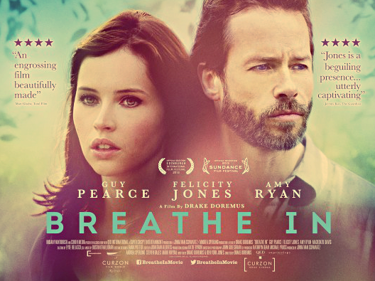 breathe in, film review, felicity jones, guy pearce