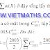 Giải các bài toán TỔ HỢP thi học sinh giỏi quốc gia