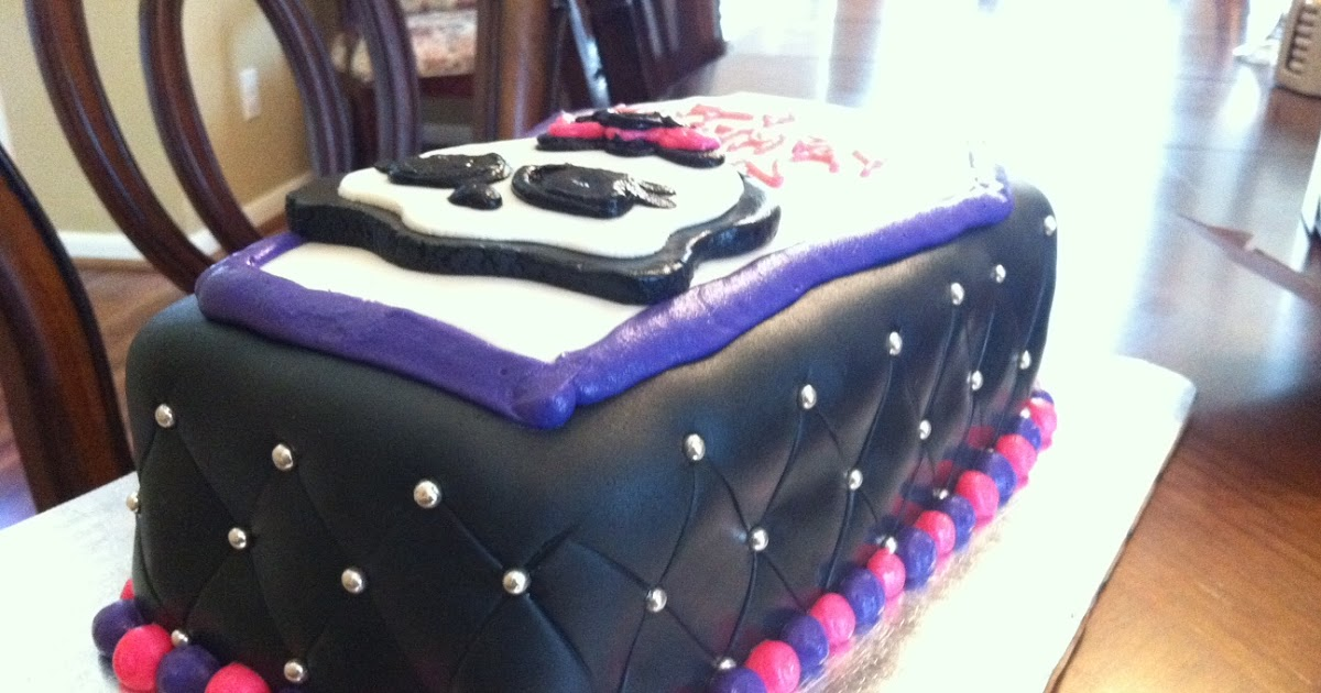 Little sweet shop monster high coffin cake for Coffin cake template