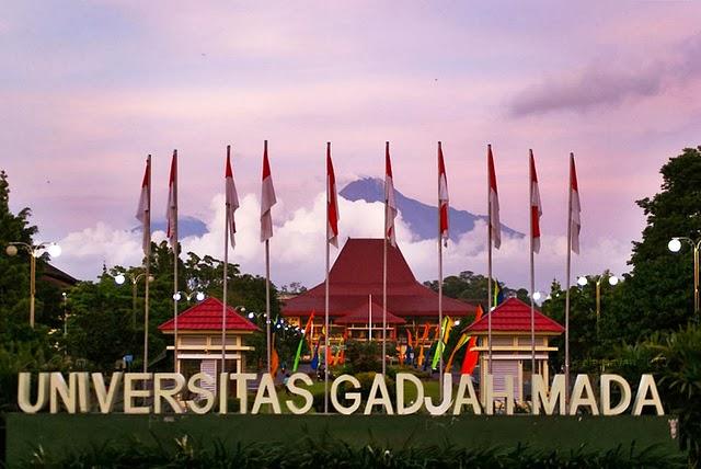 GSP (Grha Saba Pramana) nampak simetris dengan puncak gunung merapi