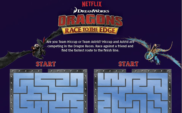 Netflix #Dragons Race to the Edge Maze and Word Search #streamteam