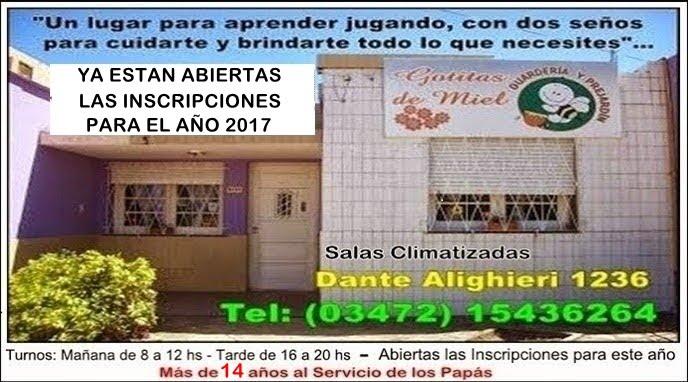 ESPACIO PUBLICITARIO: JARDIN GOTITAS DE MIEL