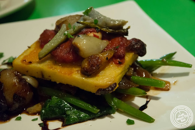 image of olive polenta at Table Verte, French vegetarian restaurant in NYC, New York