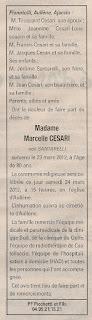 Santarelli Marcelle (épouse Cesari)
