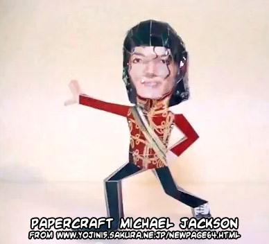 Papercraft imprimible y amable de Michael Jackson. Manualidades a Raudales.