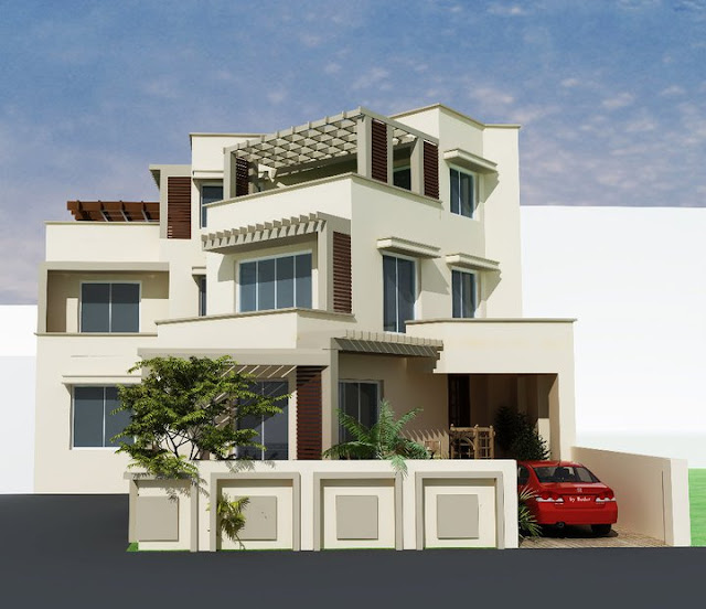 N Home Front Elevation : D front elevation home design