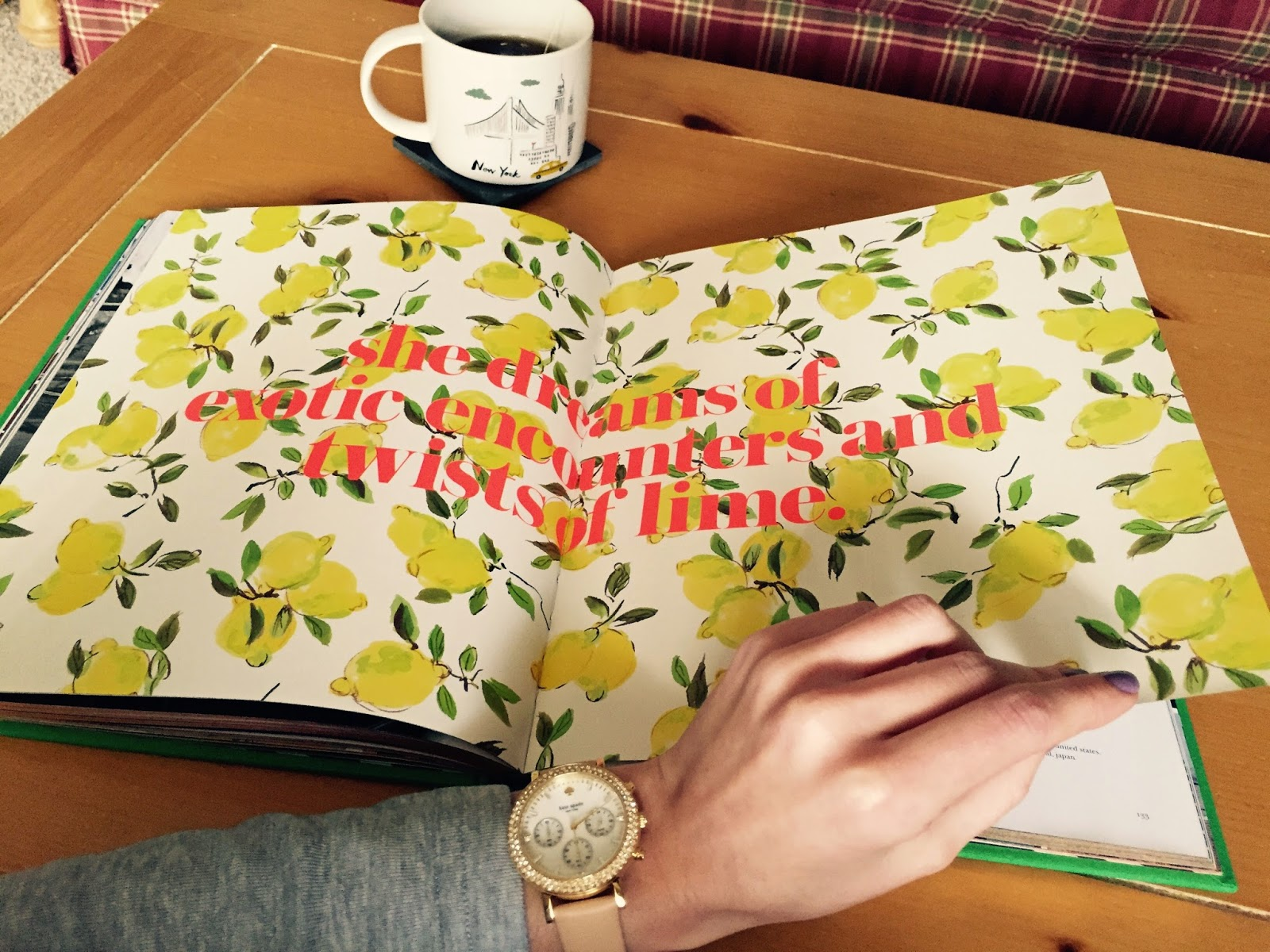 Details: Collared T-Shirt, Kate Spade Watch, Kate Spade Flats, Kate Spade  Earrings, Kate Spade Book- Places To Go, People To See, Pottery Barn New  York City ...