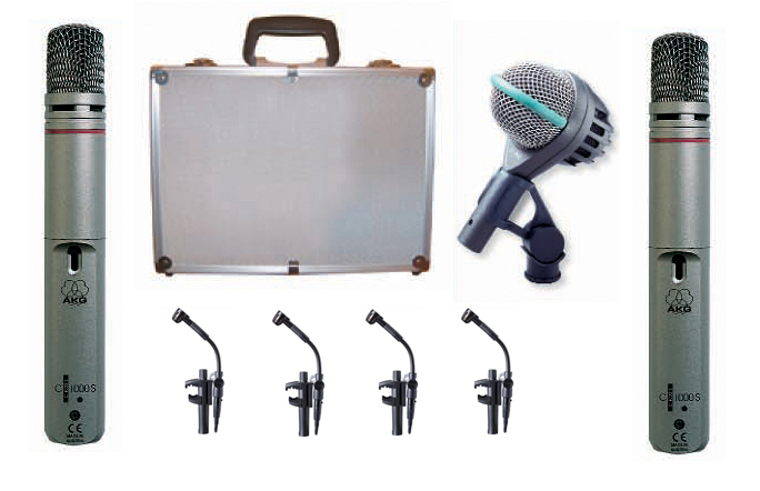 Agung Fhino MICROPHONE MIC DRUM AKG DRUM SET BIG II