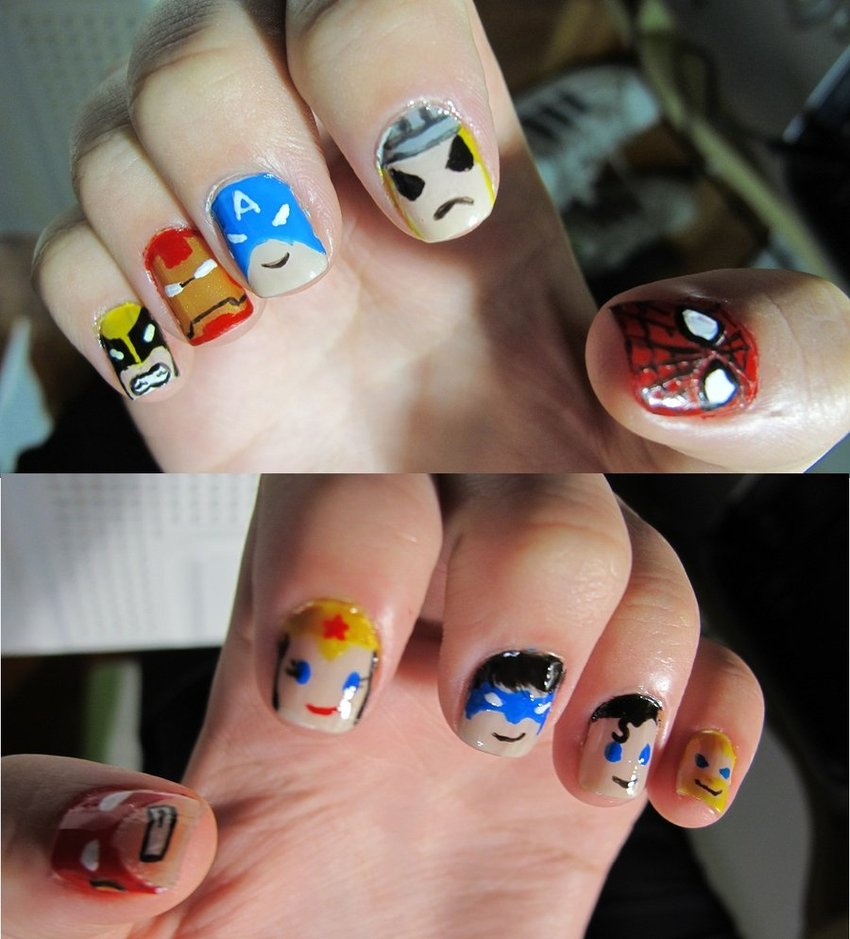 Wonder Woman Nail Designs