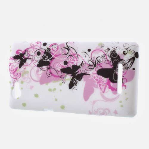 Dancing Butterflies TPU Jelly Case for Sony Xperia M C1905 C1904 C2004 C2005