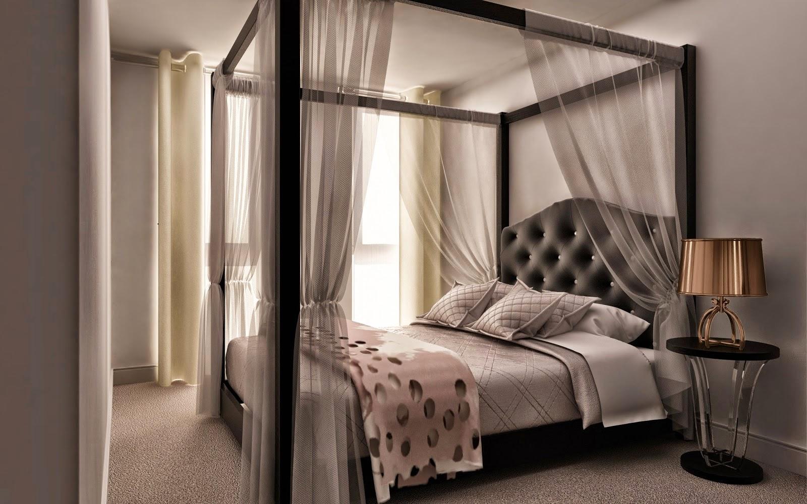 Desain tempat tidur yang romantis sobat interior rumah for Dekor kamar hotel