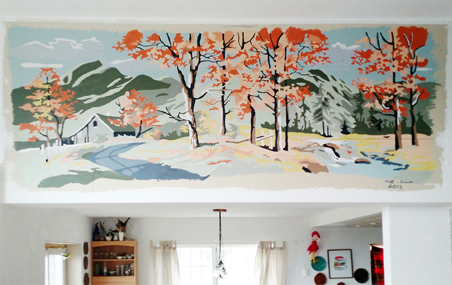 Vintage Paint By Numbers Wall Mural - littleladylittlecity.com