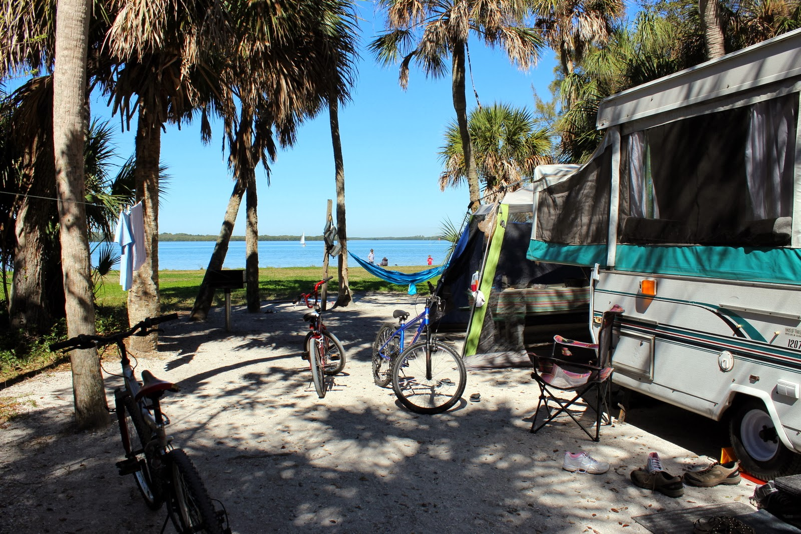 Pop Up camping at Fort De Soto Park, St. Petersburg, FL