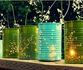 mon joli jour boites de conserve en lanternes. Black Bedroom Furniture Sets. Home Design Ideas