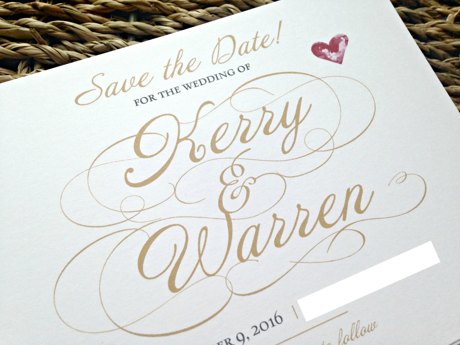 Vistaprint save the dates