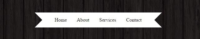 CSS ribbon menu