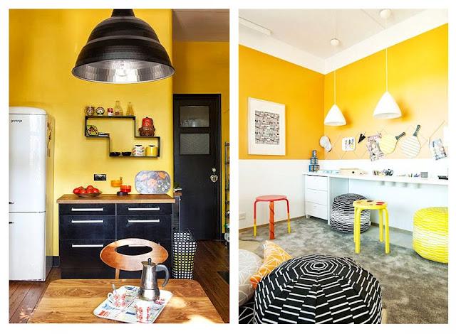 amandine df d coration une couleur le jaune. Black Bedroom Furniture Sets. Home Design Ideas