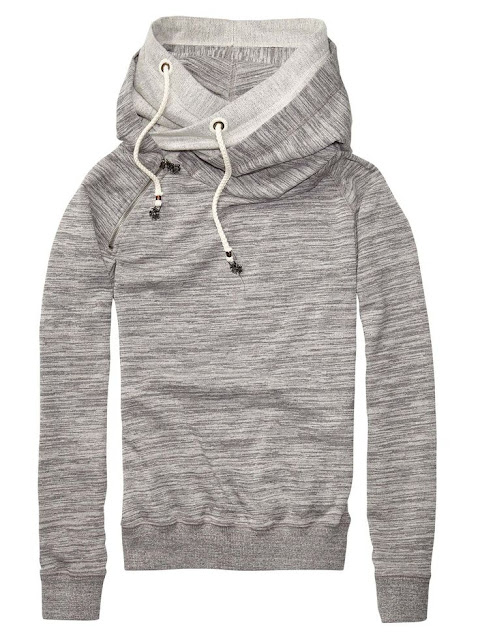 Cute cool grey hood fashion style