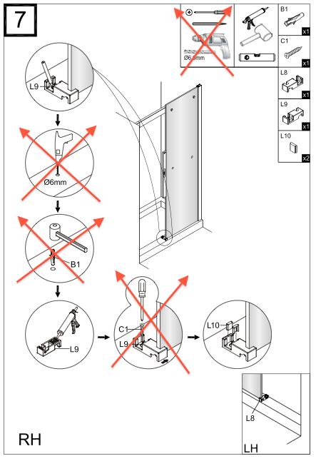 Instalacion De Una Regadera De Baño:con Ducha: Instrucciones de montaje e instalación de las mamparas de