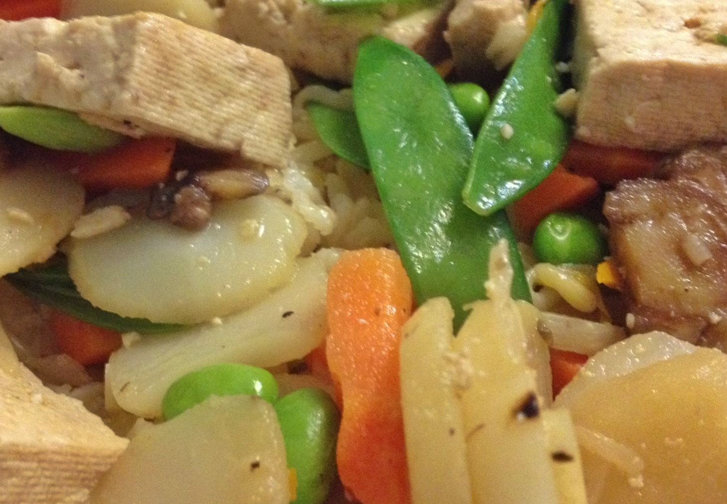 Mix it Up: Citrus Tofu with Stir-Fried Veggies over Brown Rice