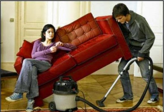 Mujer si amas tu marido no dejes que ayude en la casa