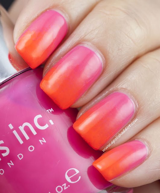Neon gradient with nails inc notting hill gate
