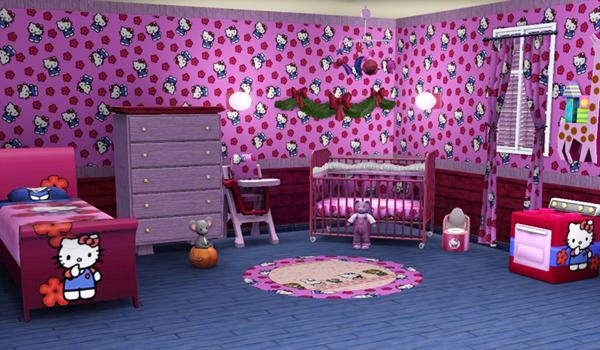 Chambre A Coucher Feng Shui : Collection des chambres à coucher en rose Hello Kitty  Bébé et
