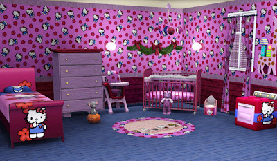 collection des chambres coucher en rose hello kitty b b et d coration chambre b b. Black Bedroom Furniture Sets. Home Design Ideas