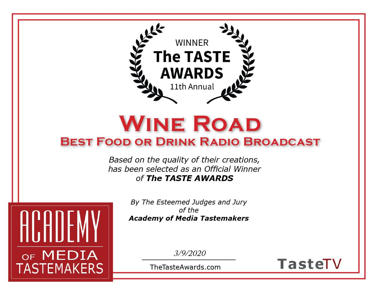 2019 TASTE AWARD BEST PODCAST