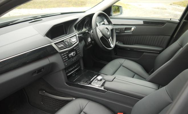 Mercedes-Benz E300 BlueTec Hybrid front interior